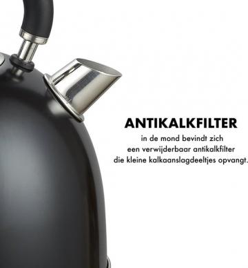 Moa Retro Luxe EK3TB waterkoker